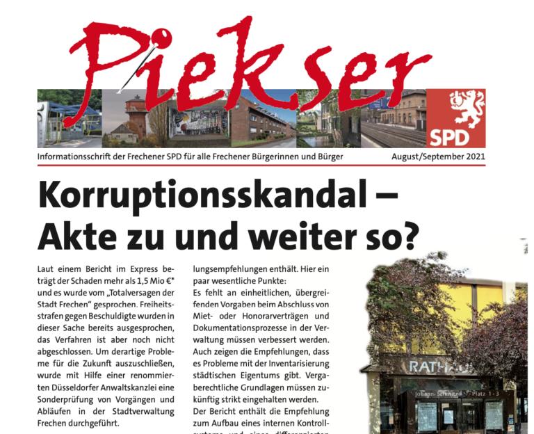 Piekser SPD Frechen September 2021